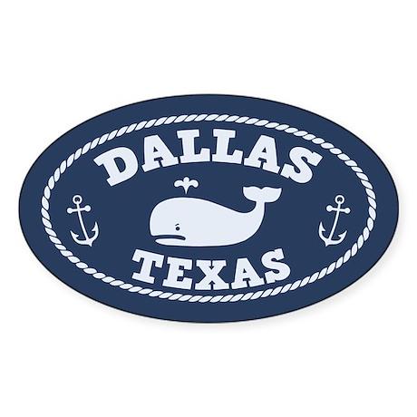 Dallas Whale Excursions Sticker (Oval)