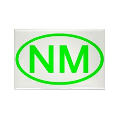 NM Oval - New Mexico Rectangle Magnet