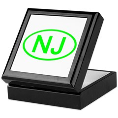 NJ Oval - New Jersey Keepsake Box