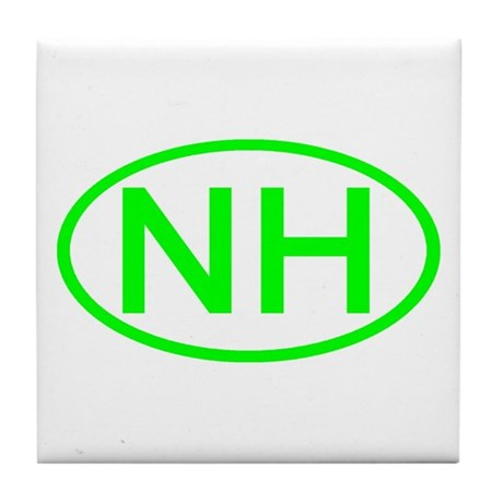 NH Oval - New Hampshire Tile Coaster