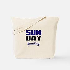 Sunday funday (black/blue) Tote Bag