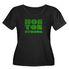 bos-Ton Strong - Green Plus Size T-Shirt