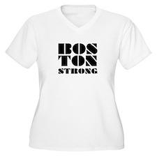 bos-Ton Strong - Black Green Plus Size T-Shirt