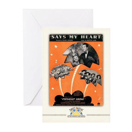 """""""Says My Heart"""" Greeting Cards (10 Pack)"""