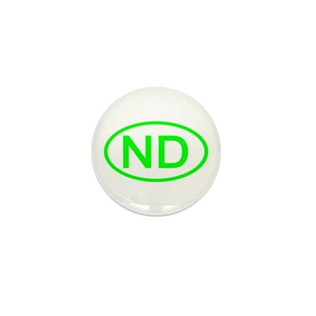 ND Oval - North Dakota Mini Button (100 pack)