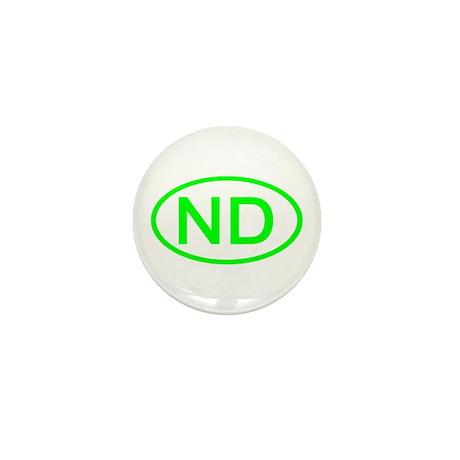 ND Oval - North Dakota Mini Button (10 pack)