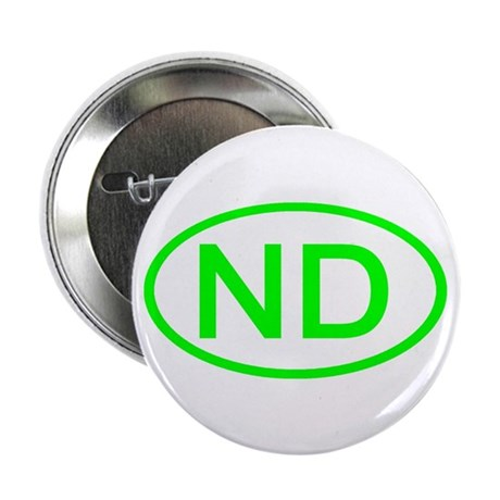 "ND Oval - North Dakota 2.25"" Button (100 pack)"