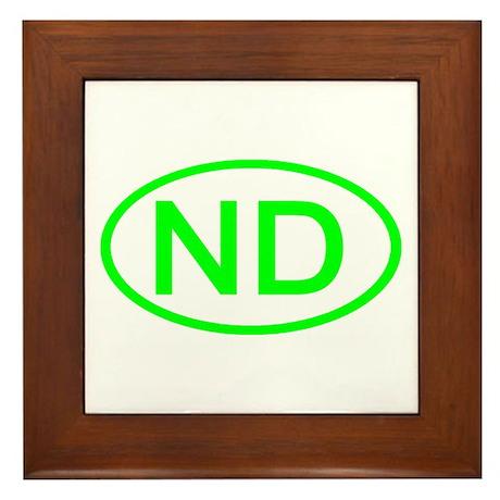 ND Oval - North Dakota Framed Tile