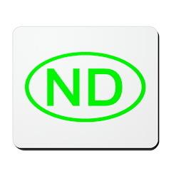 ND Oval - North Dakota Mousepad
