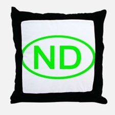 ND Oval - North Dakota Throw Pillow