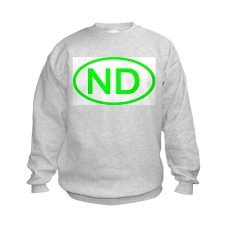 ND Oval - North Dakota Kids Sweatshirt