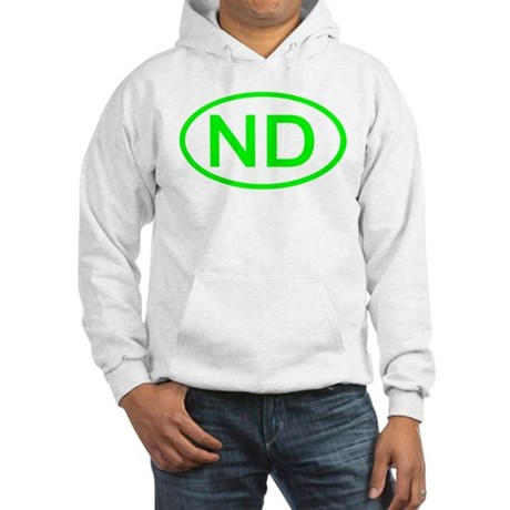 ND Oval - North Dakota Hooded Sweatshirt