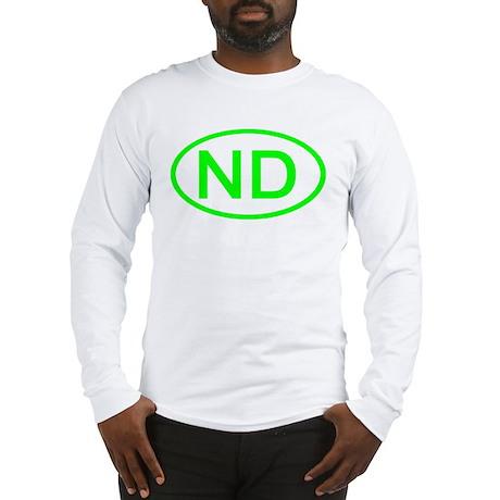 ND Oval - North Dakota Long Sleeve T-Shirt