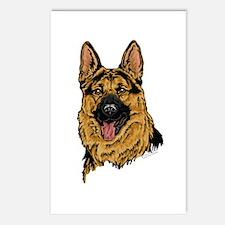 Black&Tan German Shepherd Postcards(Package of 8)