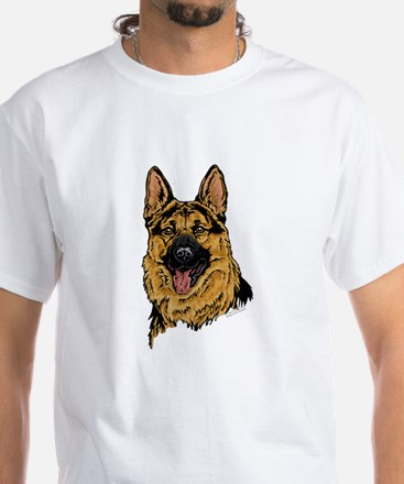 Black & Tan German Shepherd face t-shirt