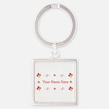 Generic Girl 1 Square Keychain