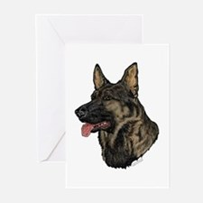 Sable German Shepherd face cards(Pkg. of 6)