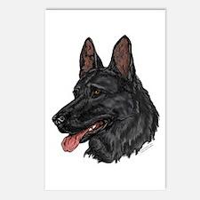 Black German Shepherd Postcards (Package of 8)
