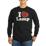 I Love Lamp Long Sleeve Dark T-Shirt