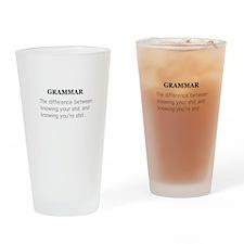 grammer Drinking Glass