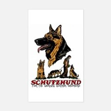 Schutzhund Rectangle Sticker #1