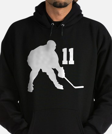 Hockey Player Number 11 Hoodie (dark)