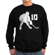 Hockey Player Number 10 Sweatshirt