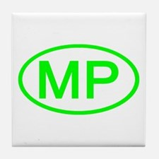 MP Oval - Northern Mariana Islands Tile Coaster