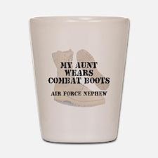 AF Nephew Aunt wears DCB Shot Glass