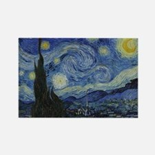 Vincent Van Gogh Starry Night Rectangle Magnet