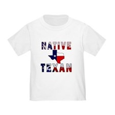 Native Texan Flag Map T-Shirt