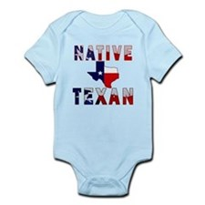 Native Texan Flag Map Body Suit
