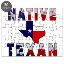 Native Texan Flag Map Puzzle