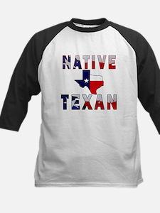 Native Texan Flag Map Baseball Jersey