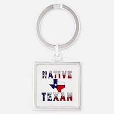 Native Texan Flag Map Keychains