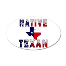 Native Texan Flag Map Wall Decal