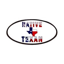 Native Texan Flag Map Patches