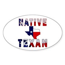 Native Texan Flag Map Decal