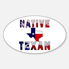 Native Texan Flag Map Decal