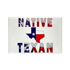 Native Texan Flag Map Rectangle Magnet