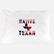 Native Texan Flag Map Pillow Case