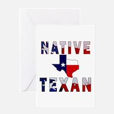 Native Texan Flag Map Greeting Card