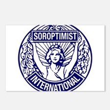 Soroptimist International BlueWhite Postcards (Pac