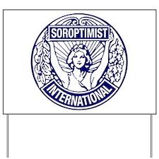 Soroptimist International BlueWhite Yard Sign