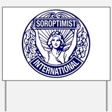 Soroptimist International BlueWhite Yard Sign