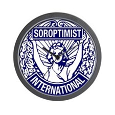 Soroptimist International BlueWhite Wall Clock