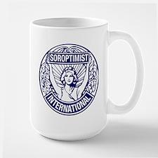 Soroptimist International BlueWhite Mug