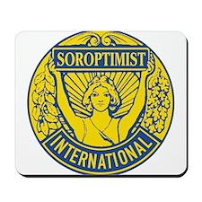 Soroptimist International (Blue/Gold) Mousepad