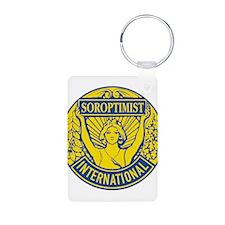 Soroptimist International (Blue/Gold) Keychains