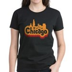 Retro Chicago Women's Dark T-Shirt